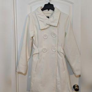 Thigh length pea coat